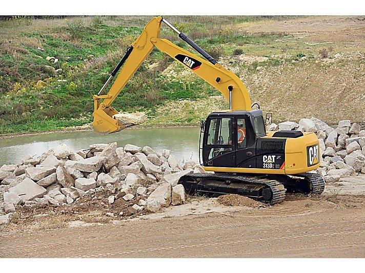 Manutenção de escavadeira